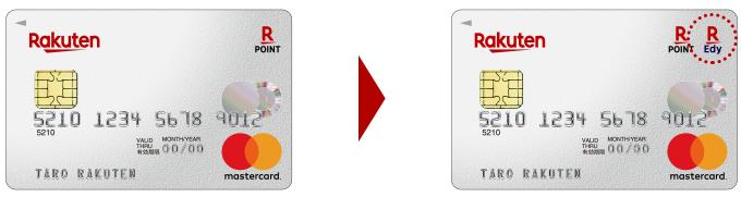 楽天カードに楽天Edy機能を付けた場合の楽天カードの例