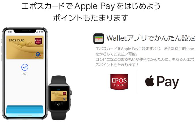 エポスカード(エポスゴールドカード)のApple Pay