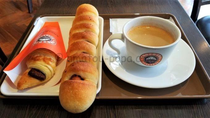 サンマルクカフェのバリューランチセット(やみつきドッグセット)