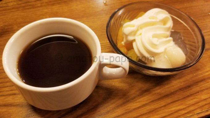 しゃぶ葉のコーヒーとデザート