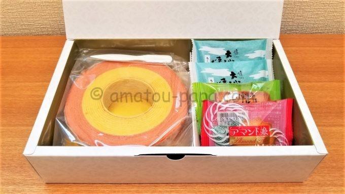 アイ・ケイ・ケイ株式会社(IKK)の株主優待(バームクーヘンとお菓子セット)