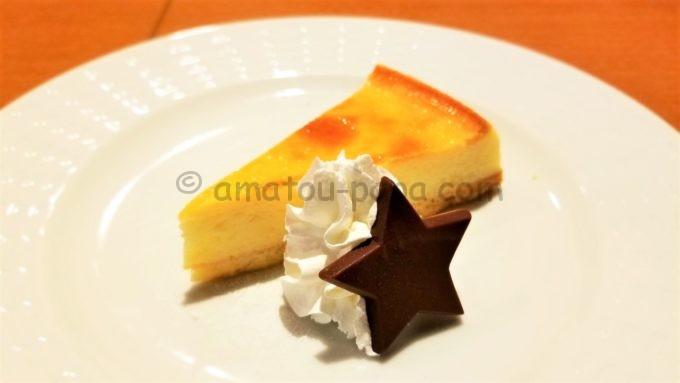 COCO'S(ココス)の北海道産クリームチーズのベイクドチーズケーキ