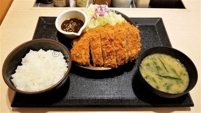 とんかつ松乃屋(松のや)のダブル味噌ロースかつ定食