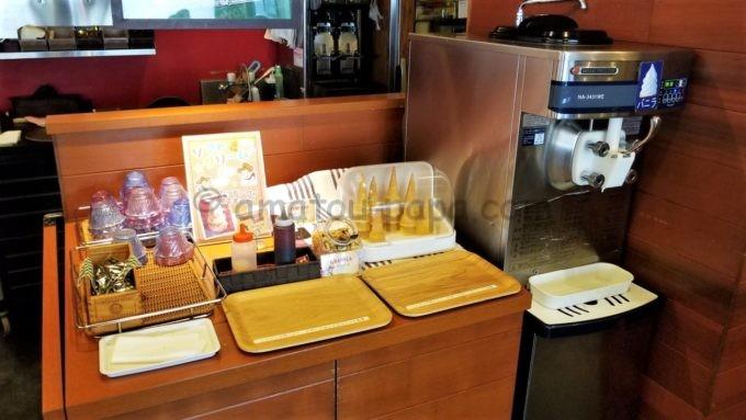 カウボーイ家族のソフトクリームコーナー