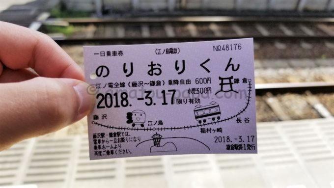 江ノ電1日乗車券「のりおりくん」