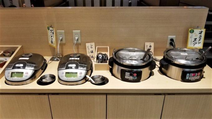 串家物語のごはんコーナー(カレー・ライス・スープなど)