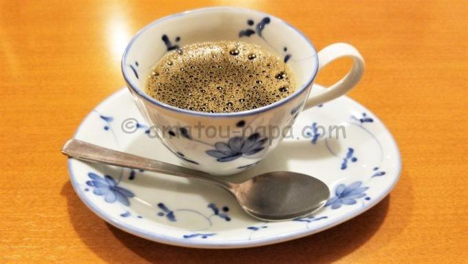 味の民芸のホットコーヒー