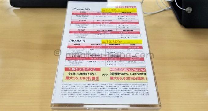 ドコモショップのiPhoneの値段