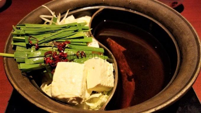 温野菜の二色鍋