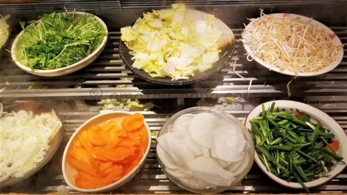 しゃぶ菜の本日の野菜(ニンジン、白菜など)