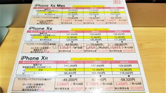 auショップのiPhoneの値段