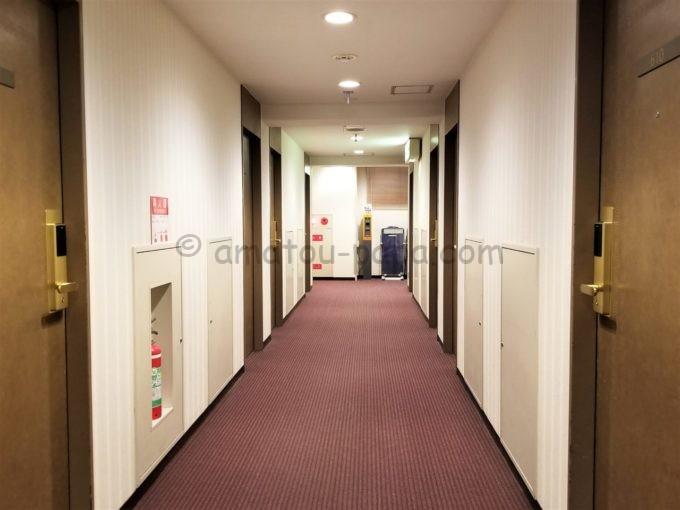 センターホテル大阪の廊下