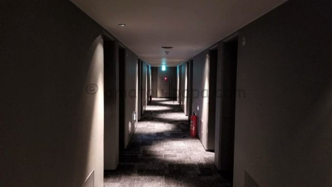 センターホテル東京の廊下