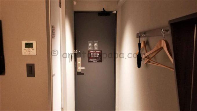 センターホテル東京の部屋(ドア)