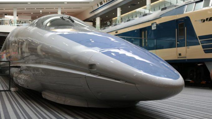 京都鉄道博物館の500系新幹線(こだま)