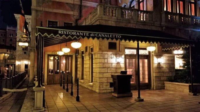 東京ディズニーシーのレストラン「リストランテ・ディ・カナレット」の外観