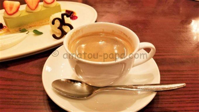 東京ディズニーシーのレストラン「リストランテ・ディ・カナレット」のコーヒー