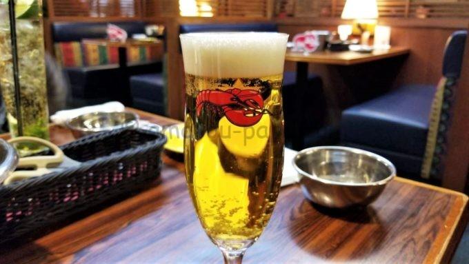 レッドロブスターのサッポロ生ビールサッポロ黒ラベル(横写真)
