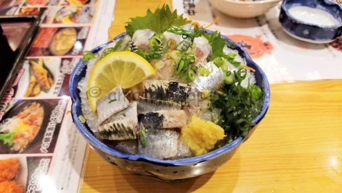 和食レストランとんでんの「トロいわしの刺身」