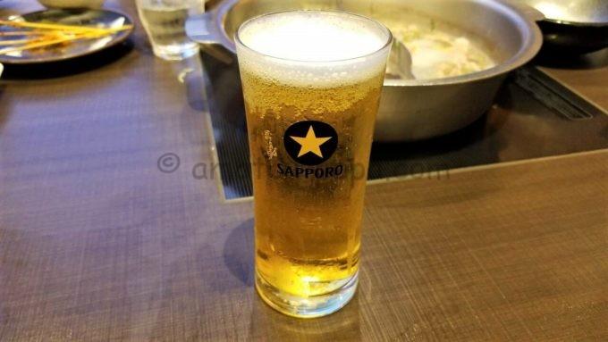 ゆず庵の生ビール