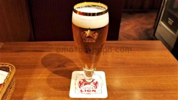 銀座ライオンのサッポロ生ビール黒ラベル