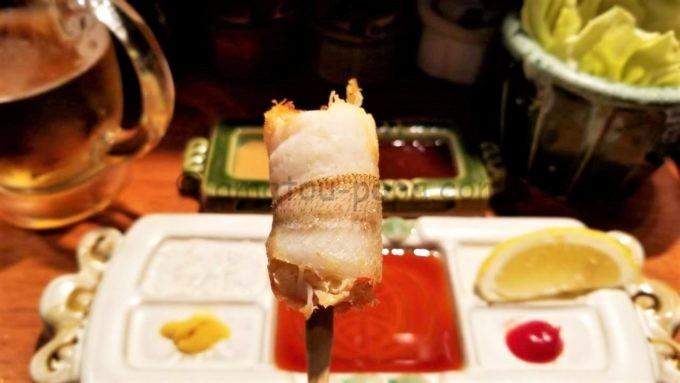 串の坊のズワイ蟹のキス巻き