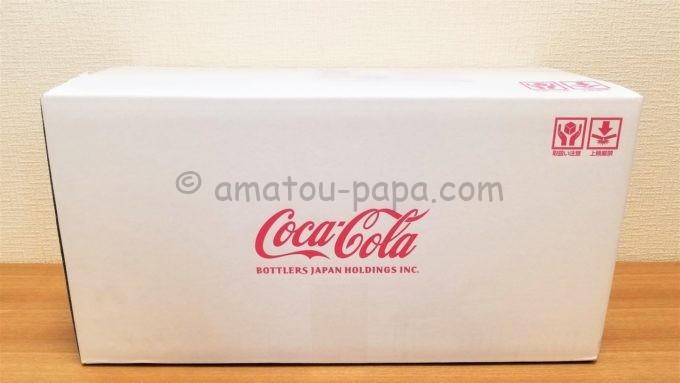 コカ・コーラ ボトラーズジャパンホールディングス株式会社の株主優待品が届いた時のダンボール箱