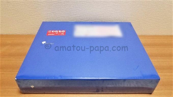 大塚ホールディングス株式会社の株主優待品が届いた時の箱