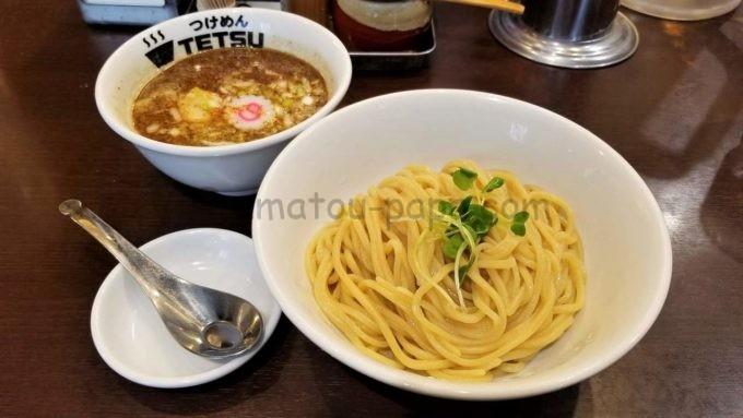つけめんTETSU(つけめん102)の味玉つけ麺