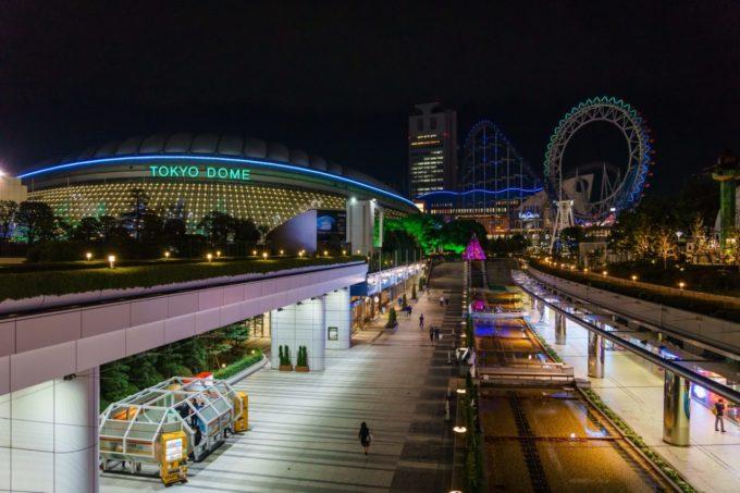 東京ドームシティの全景