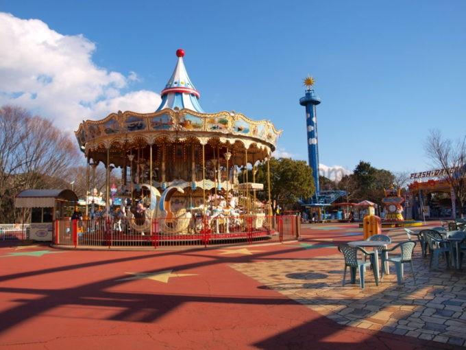 日本モンキーパークのメリーゴーランド