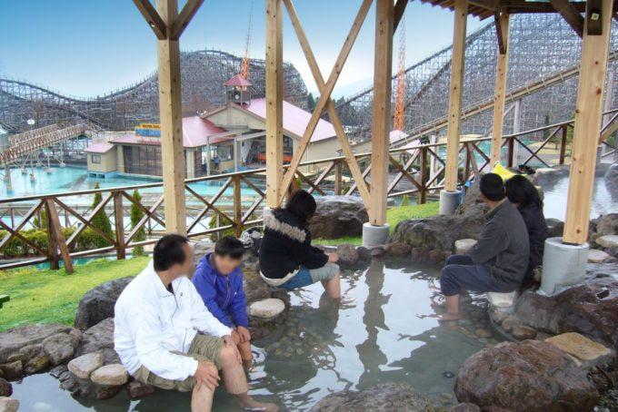 城島高原パークの展望足湯「花草香」