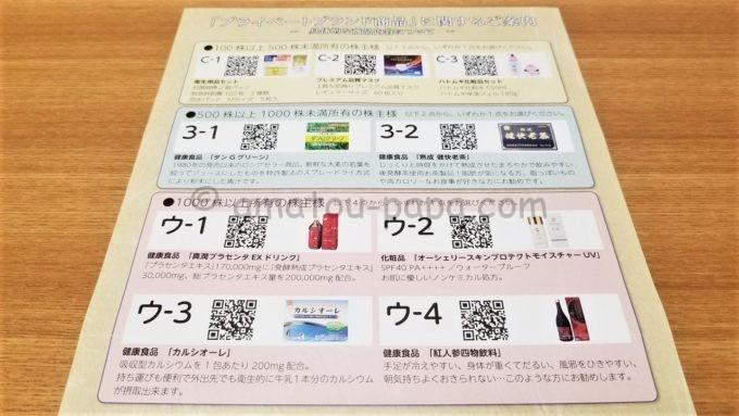 株式会社キリン堂ホールディングスの株主優待カタログ(プライベートブランド商品)