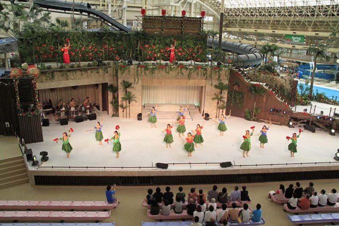 スパリゾートハワイアンズのフラダンス