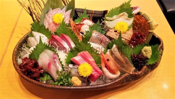 日本海庄やの仰天!大漁盛(12点盛り)