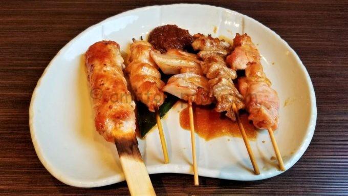NIJYU-MARU(にじゅうまる)の串焼き5種盛り合わせ