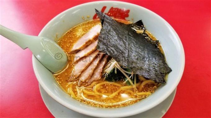 ラーメン山岡家の特製味噌ネギチャーシュー麺