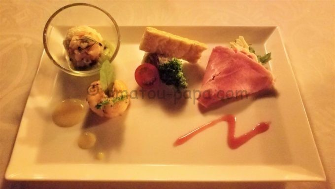 ブルーバイユー・レストランの「オードヴル・ヴァリエ」