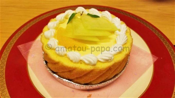 木曽路の誕生日(記念日)コースのケーキ
