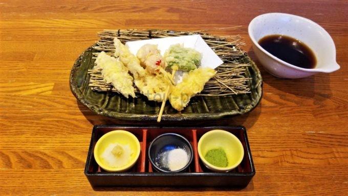 千年の宴の5種野菜の天ぷら