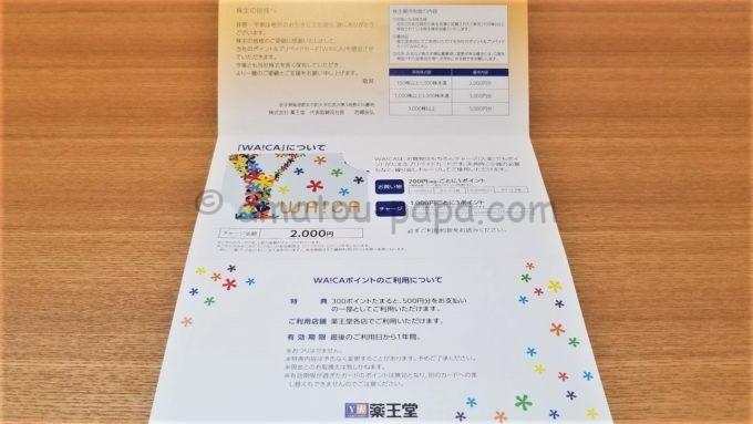 株式会社薬王堂から届いた株主優待品のWA!CA(ワイカ)