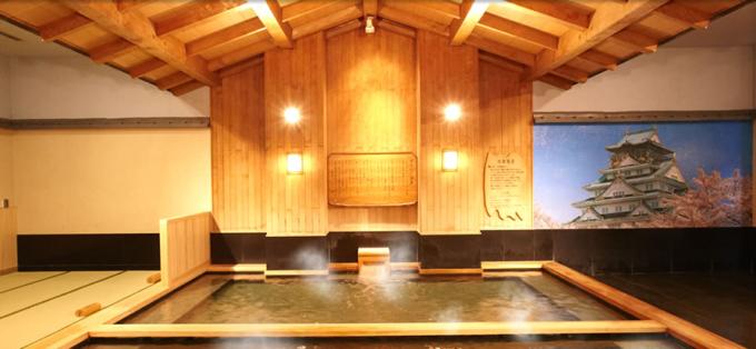 スパワールド 世界の大温泉の温泉「大檜風呂」