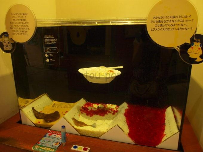 ヨコハマおもしろ水族館のカレイの水槽(カレーの水槽)