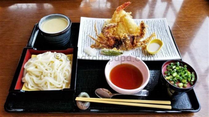 レストラン櫻の天麩羅と冷やしうどん膳