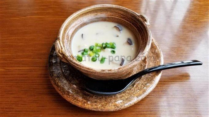 レストラン櫻のチャーリー特製味噌クラムチャウダー