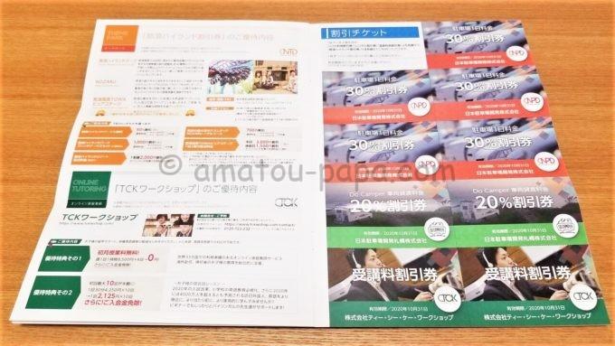 日本駐車場開発株式会社の株主優待券