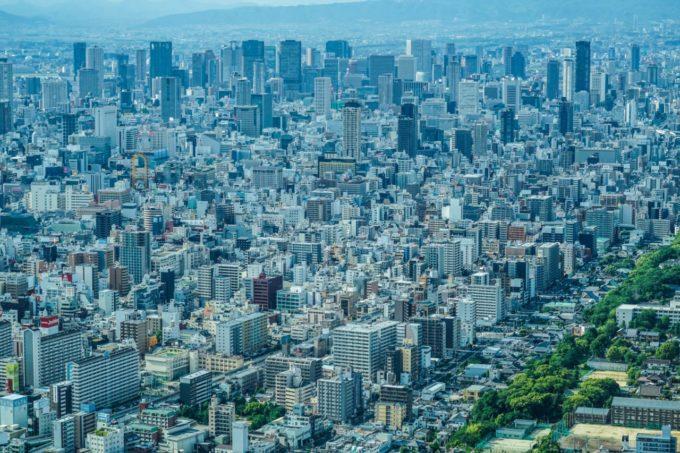 あべのハルカスのハルカス300(展望台)からの眺め