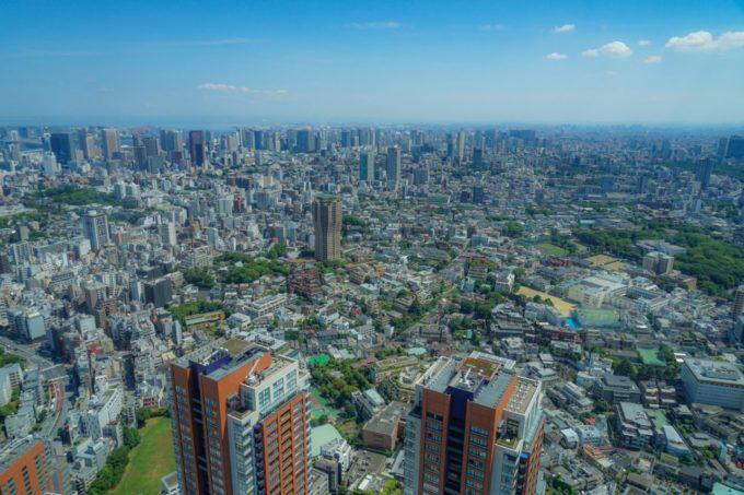 六本木ヒルズ展望台東京シティビューからの景色