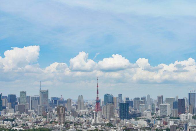 六本木ヒルズ展望台東京シティビューからの眺望