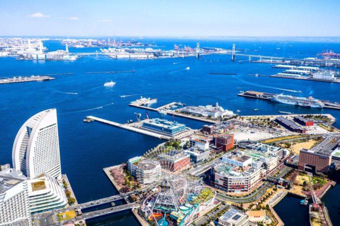横浜ランドマークタワーからの景色